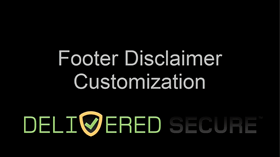 Footer Disclaimer Customization Video